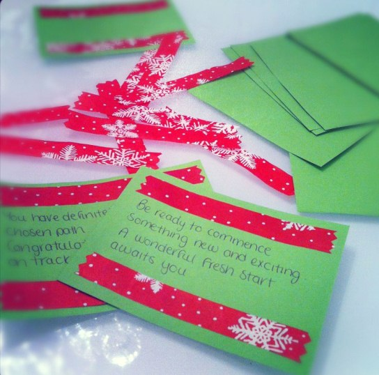 how to make fortune christmas cards she makes magic
