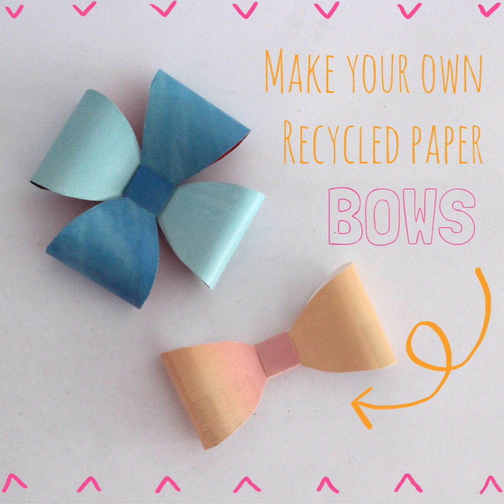 How to make cute recycled paper bows for gift wrapping for How to make easy gifts