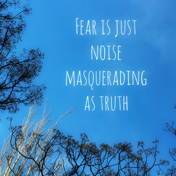 Fear is just noise masquerading as truth