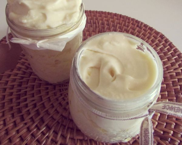 Make your own healing homemade face and body butter.