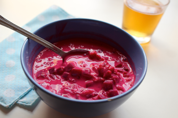 Vegan Chlodnik chilled beetroot soup