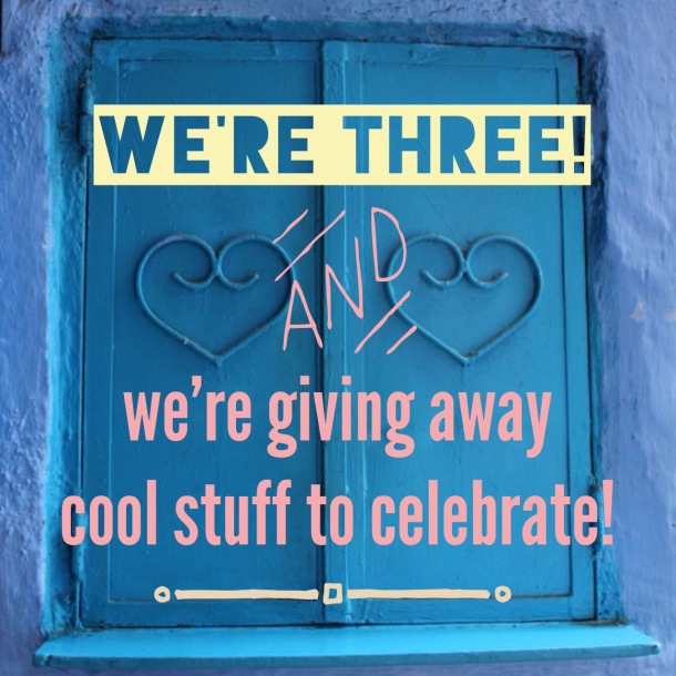 We're three and we're giving away cool stuff to celebrate in our birthday giveaway