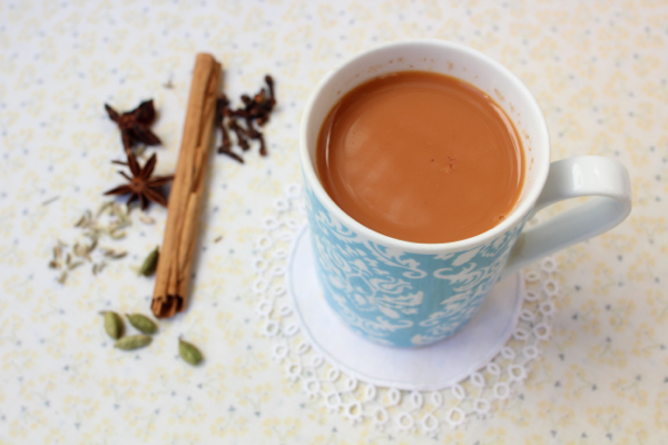 Homemade vegan Indian spiced chai