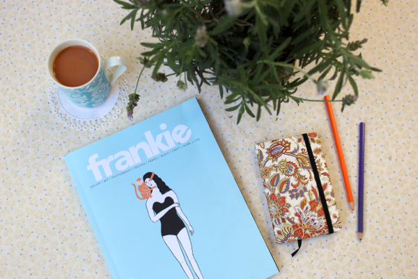 Homemade spiced chai and a copy of frankie magazine -- heaven!