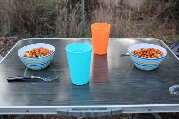 Camping cooking made easy with spicy chickpeas