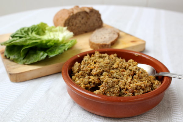 Vegan sprouted lentil dip