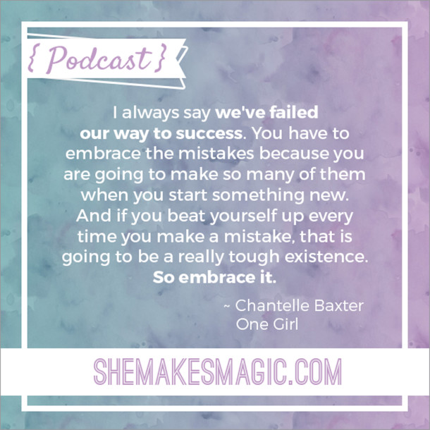 "Chantelle Baxter's ""failed our way to success"" quote"