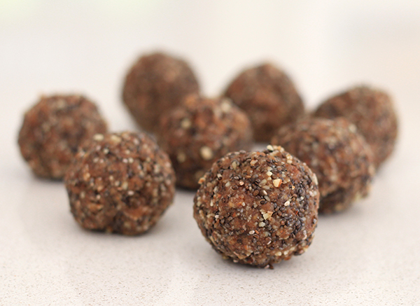 Walnut, almond and chia seed bliss balls