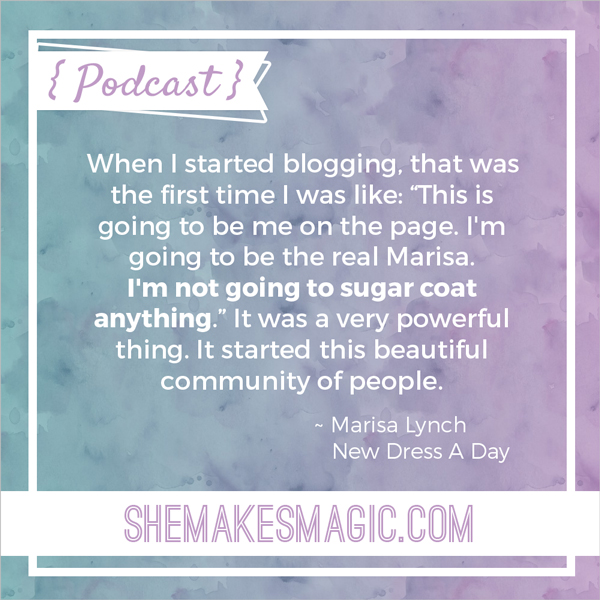 New Dress A Day founder Marisa Lynch quote on being authentic and real as a blogger