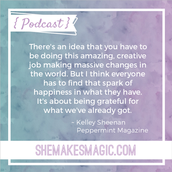 Peppermint editor Kelley Sheenan's quote on gratitude
