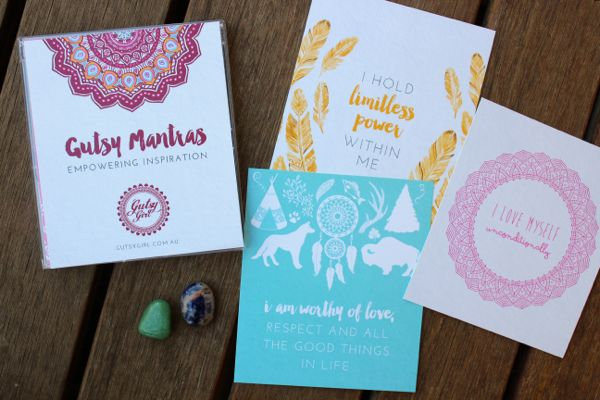 Gutsy Girl mantras and crystals