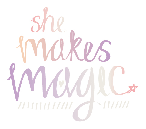 She Makes Magic Vertical Colour Logo